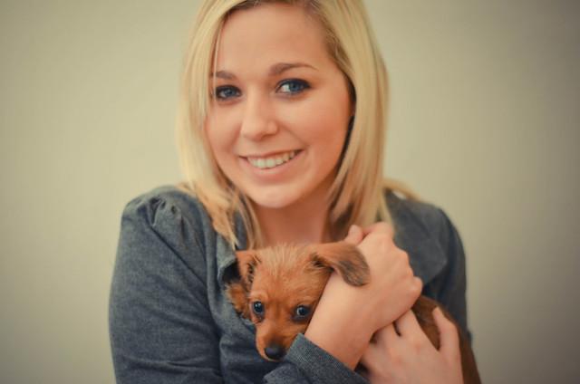 Nastassja and the puppy-1