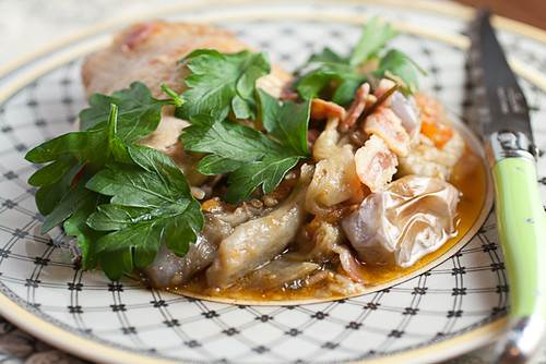 Fricasseed Chicken with Eggplant and Fresh Tomatoes (11 of 15)