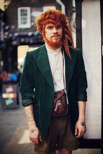 A ginger haired guy with style