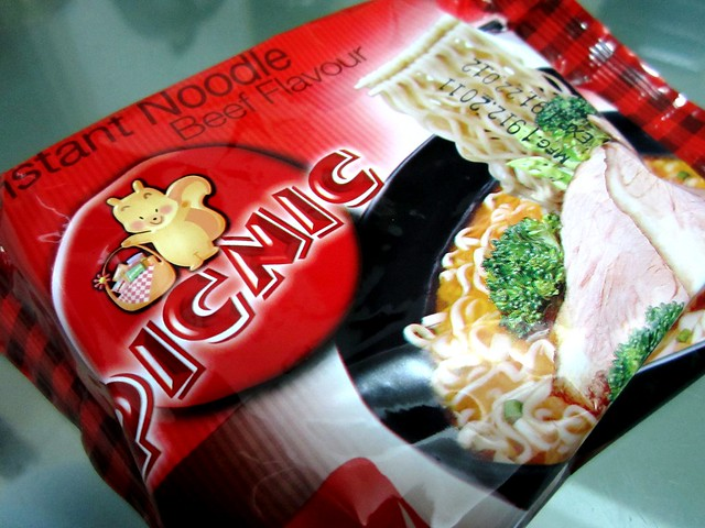 PICNIC instant beef noodles 1
