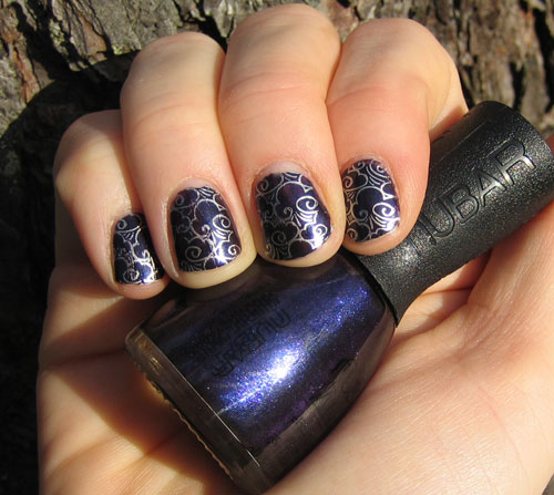 Nubar-passionate-purple-BarryM-Silver-foil