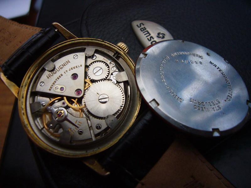 Huguenin Vintage Watch - watch movement
