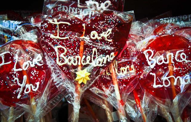 I love Barcelona Lollipops