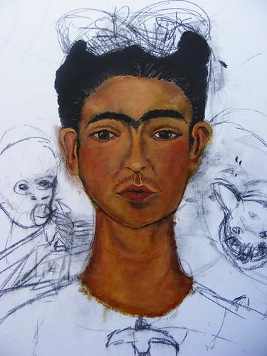 Frida Kahlo Self-Portrait 1940 Study WIP #4
