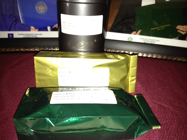 Teas: Irish Blend, Elderberry, & Japanese Pan-Fried Green