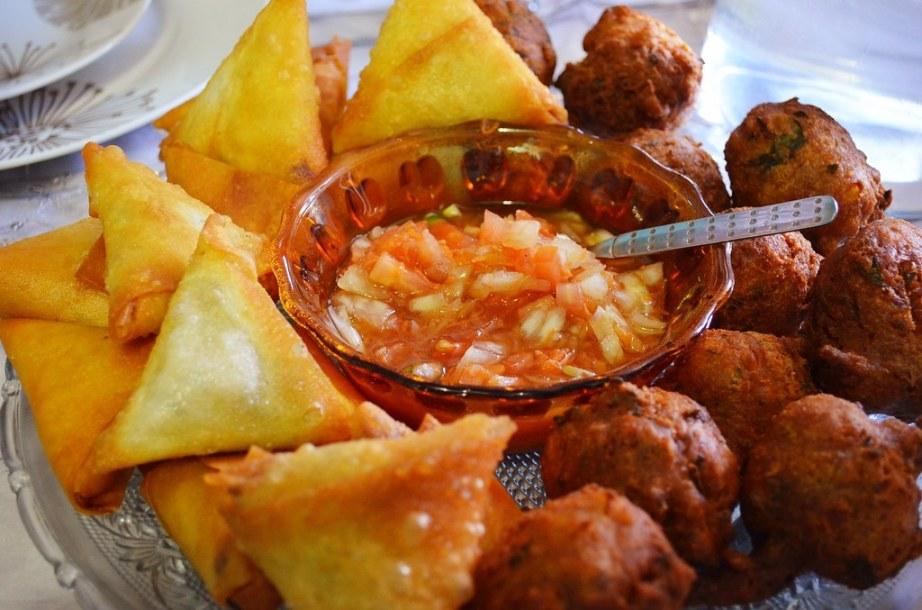 Samosas and chili bites
