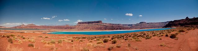 Panoramic view of potash drying field
