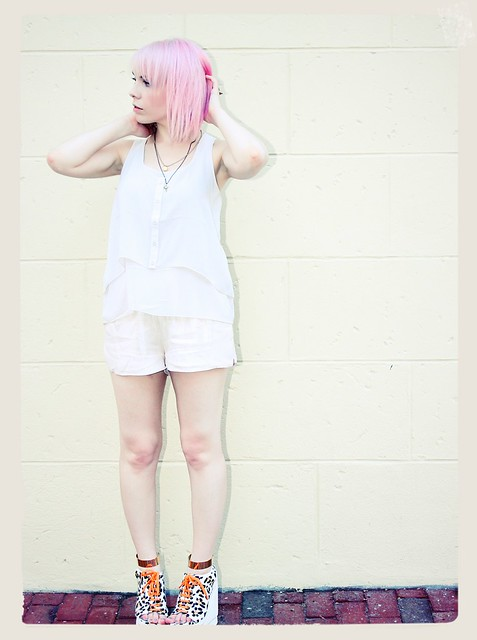 pink hair pastel h&m summertime campy