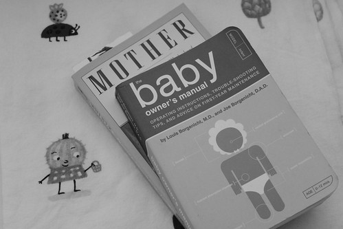 mother and baby b&w