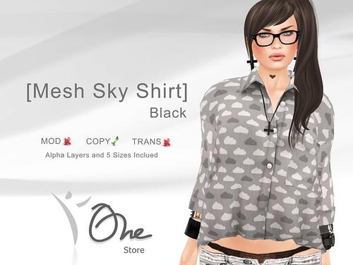 Mesh Sky Shirt Black