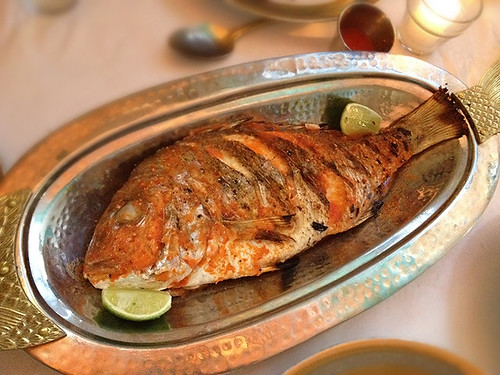 Whole Roasted Red Snapper at Sunny Spot