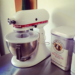 My KitchenAid all set up.