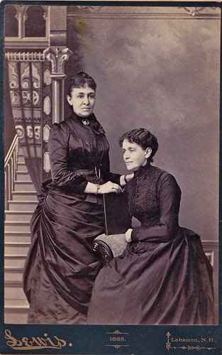 New Hampshire Mourners, Albumen Cabinet Card, 1888