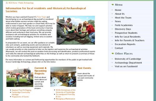 New Community Webpage Screenshot