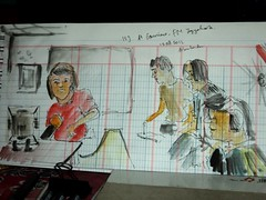 Live sketching at Geronimo 1 by Arkanhendra