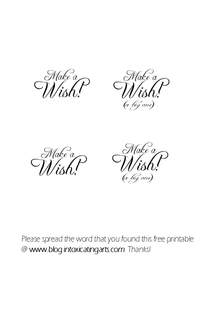 make a wish ( a big one )