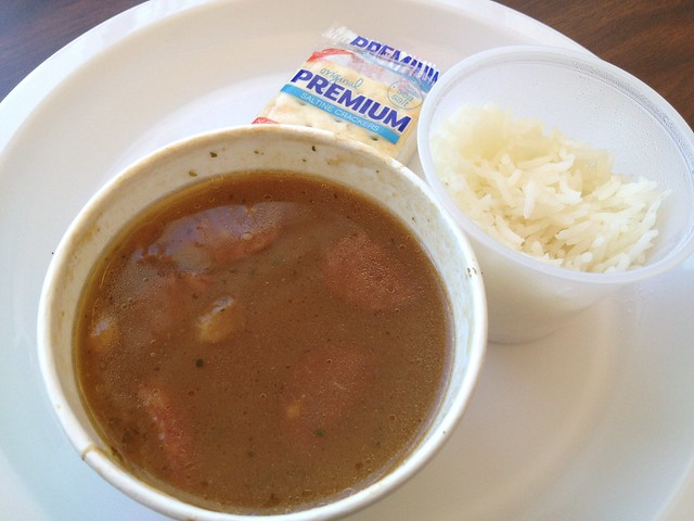 Authentic seafood gumbo - Queen's Louisiana Po-Boy Cafe