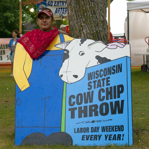 wisconsin state cow chip throw and festival