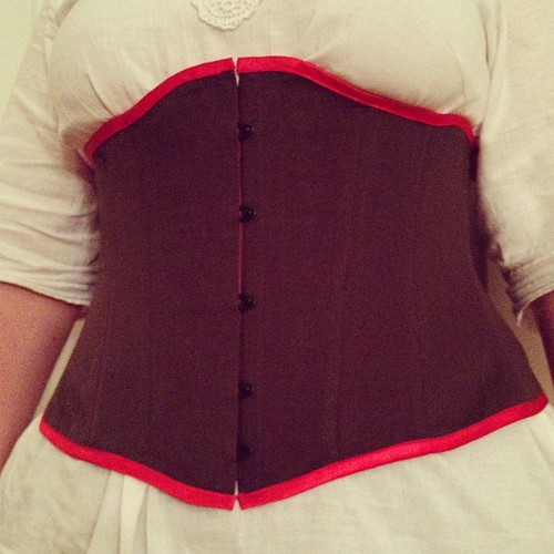 Done and it fits, although slightly large. #corset