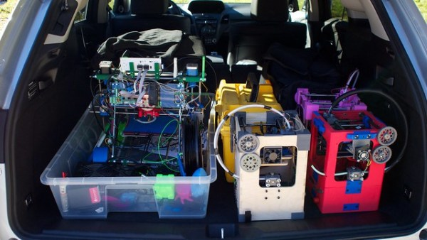 Loaded up with 3D printers