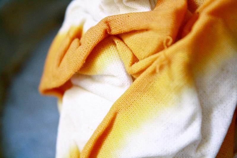 shibori printing   Turmeric dye
