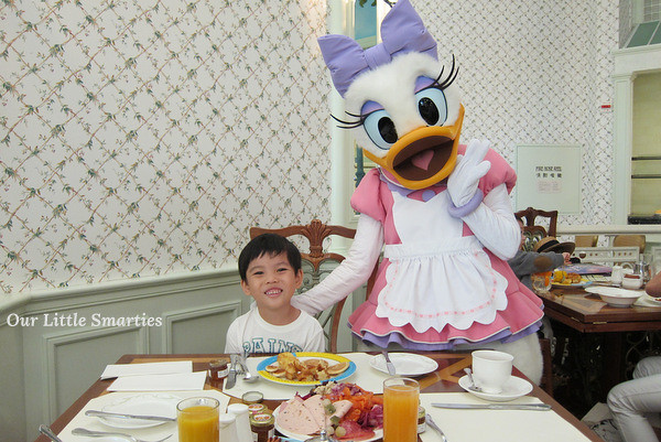 Edison with Daisy Duck