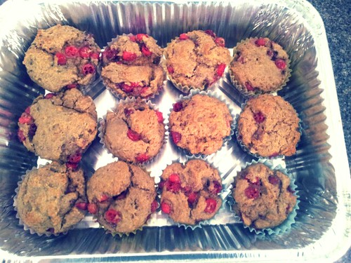 Leftover Cranberry Muffins