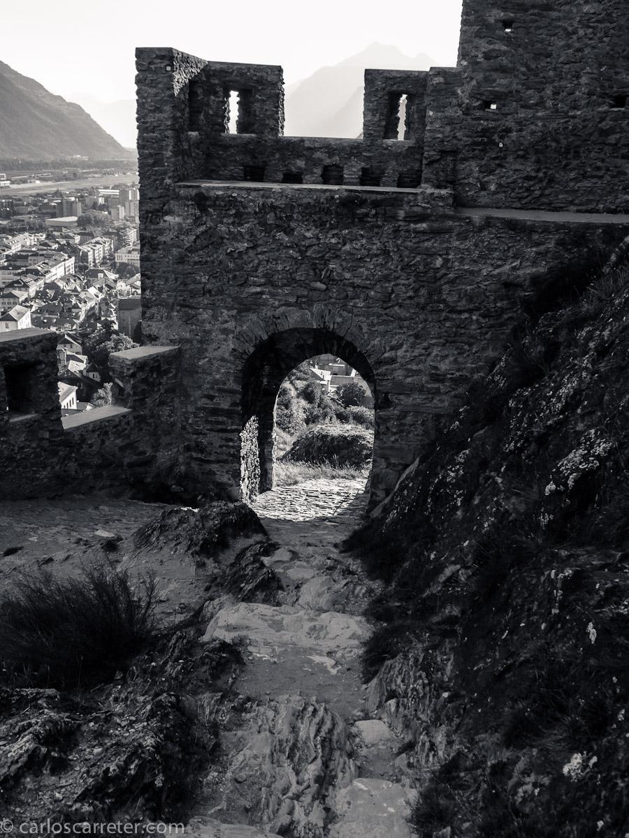 Murallas del castillo de Tourbillon - Sion