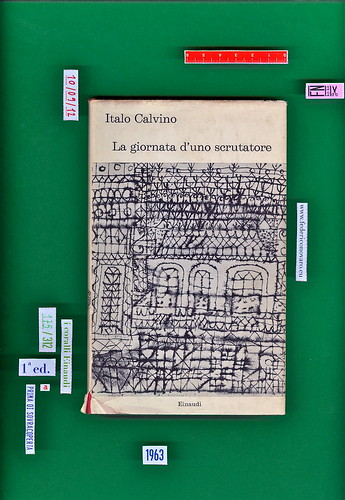Italo Calvino, La giornata d'uno scrutatore. Einaudi 1963. i coralli 175. Prima di sovracoperta