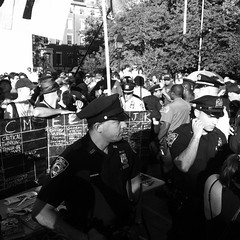 #NYPD moves in bc banners on PVC pipes #s17 #wsp #ows #s17nyc