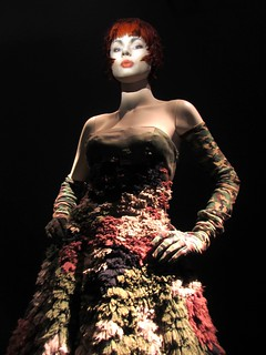 Dubar gown with camouflage motif, Romantic India collection, haute couture SS 2000.