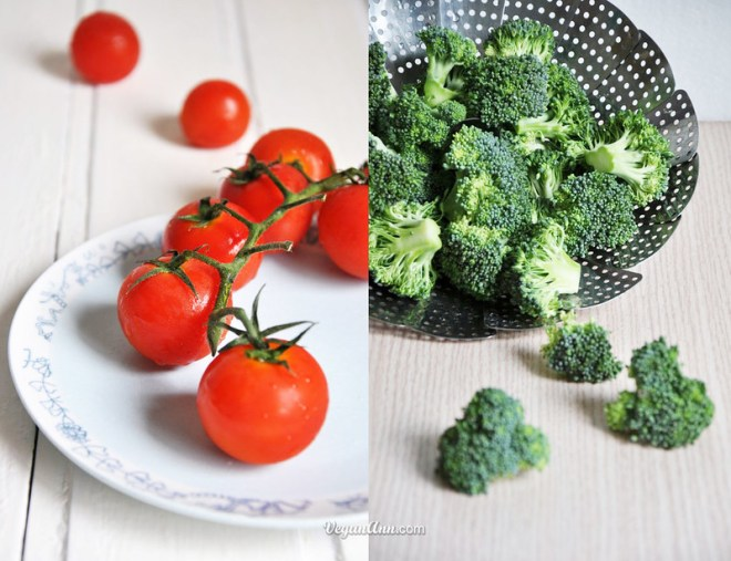 broccoli and tomato