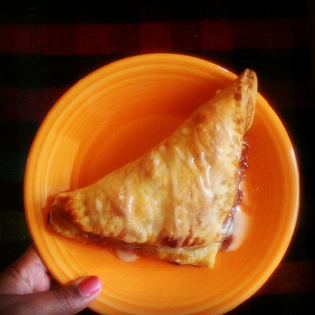 Today I put those apples I picked to use & made apple turnovers.