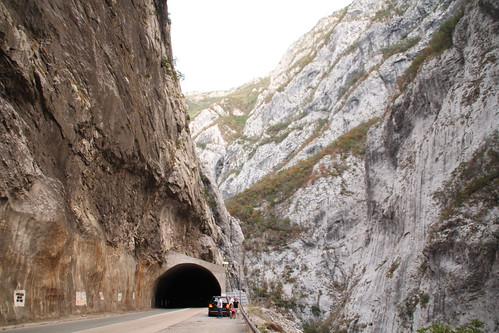 Tunnel in the mountain road