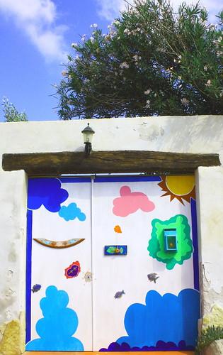 Lampedusa door by Rossella Sferlazzo