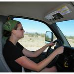 Jenn driving Penske truck