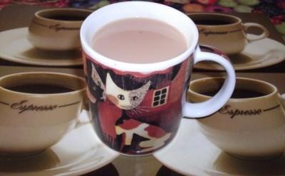 Cat Mug with Tea
