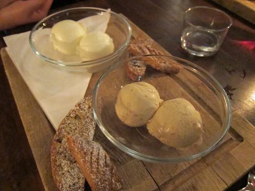 Lemon and Elderflower Sorbet and Turron Ice Cream