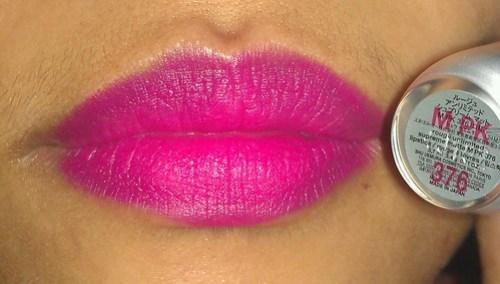 Shu Uemura Rouge Unlimited Supreme Matte Lipstick Pink on my lips