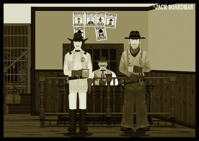 Bulgebottom in the sheriff's office ©2012 Jack Boardman