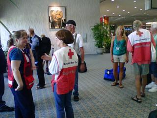 Isaac: Volunteers assembling in Tampa