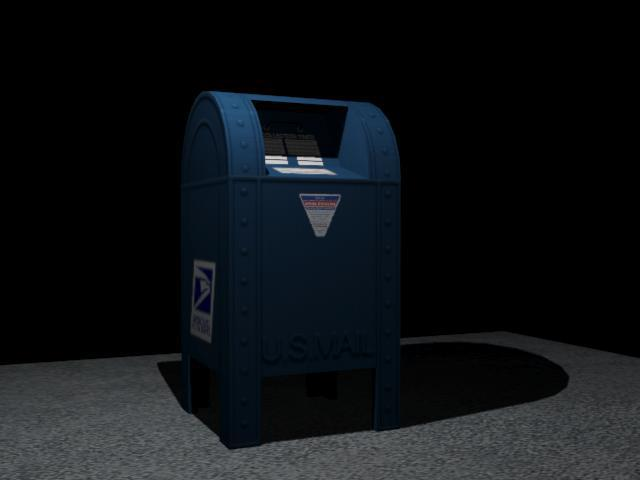 Post Office Mail Box 3D Model