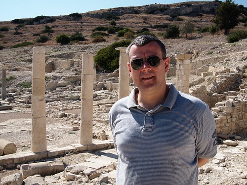 Richard enjoying the local sites in Cyprus