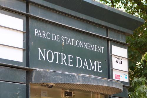 Park near Notre Dame