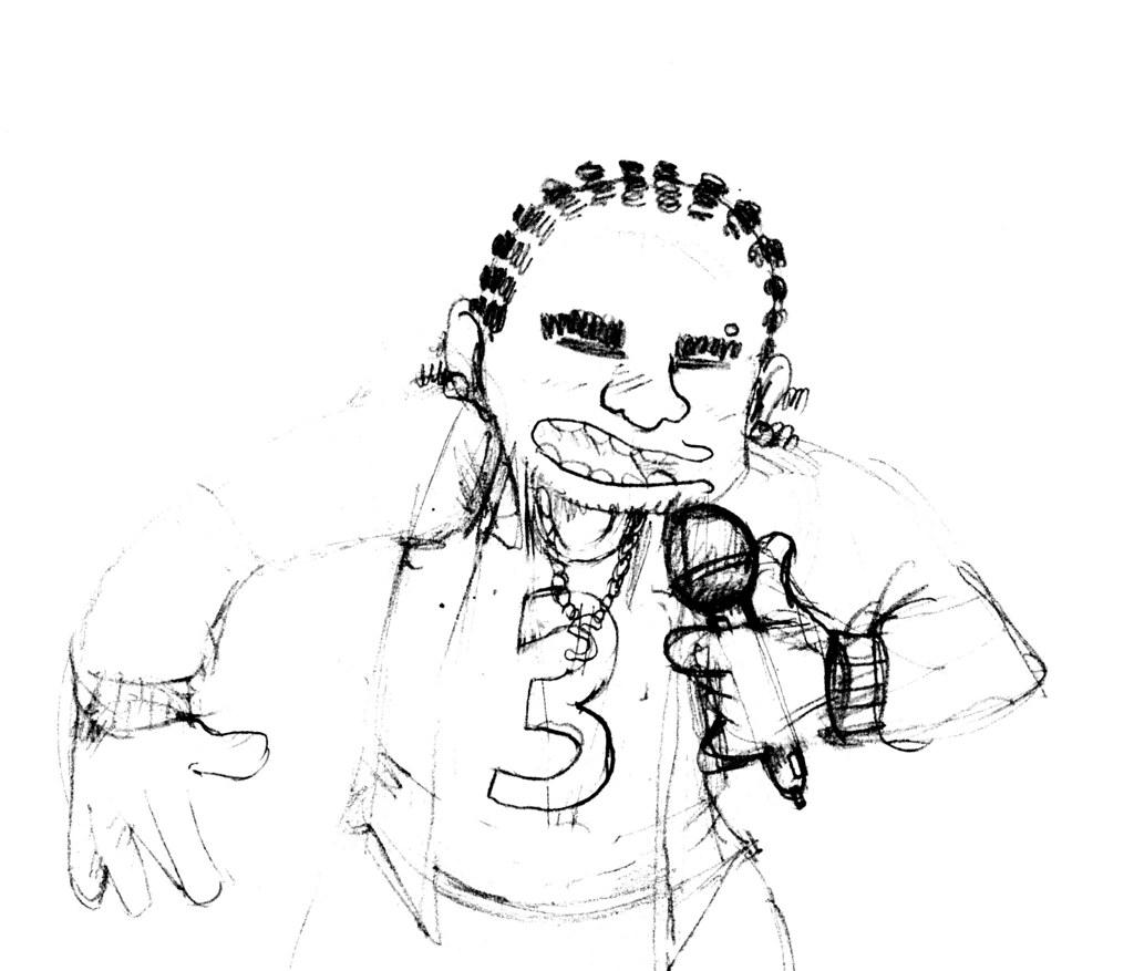 Gangsta Rap Coloring Pages