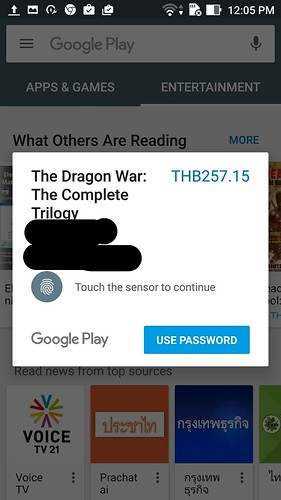 ใช้การสแกนนิ้วในการยืนยันการซื้อใน Google Play Store ได้