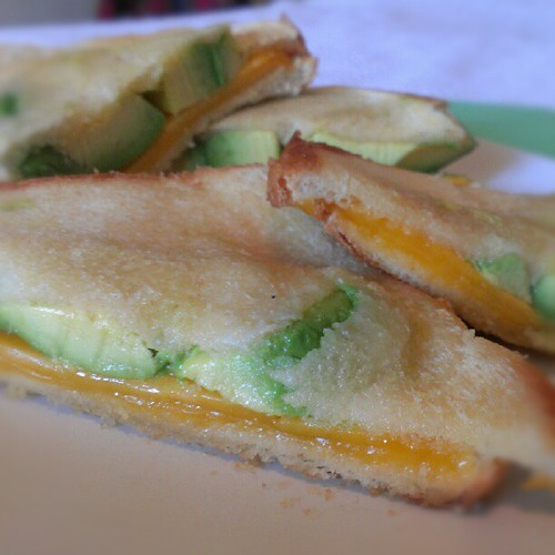 grilled cheese & avocado. #food #foodie #foodporn #grilledcheese #avocado #cheese #yummy #delicious #instafood #instagood