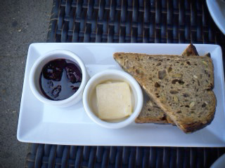 house made bread, huckleberry preserves