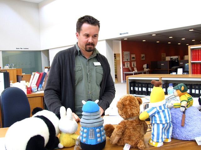 Meeting some more funny State Library staff