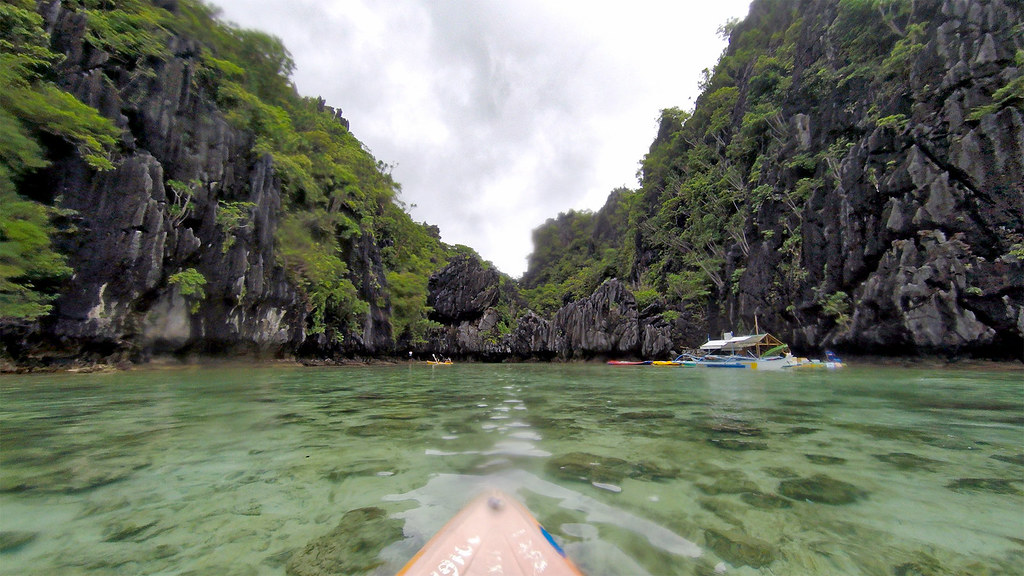 Paddling into the Small Lagoon.